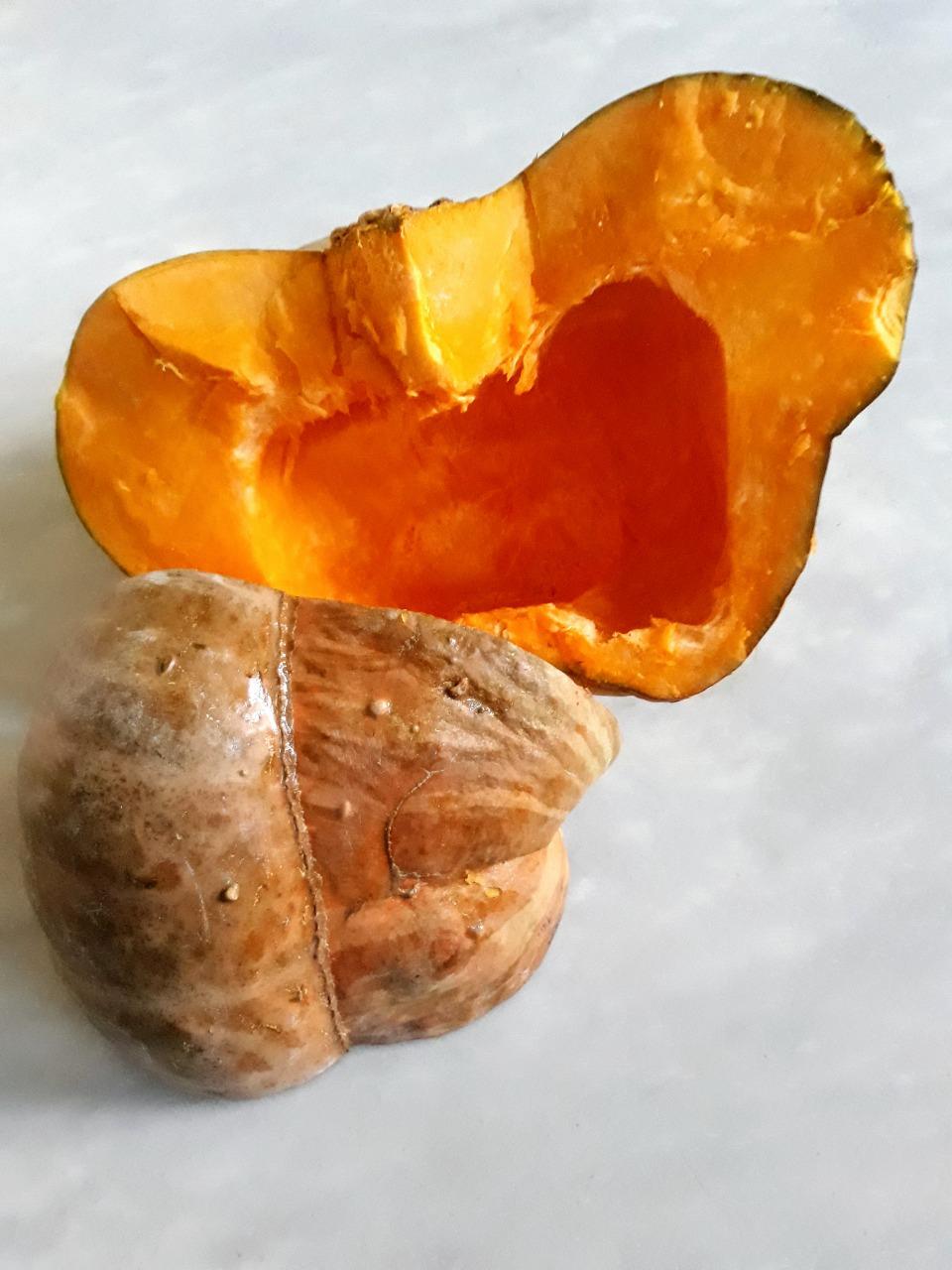 Zucca bertagnina di Dorno tagliata a metà